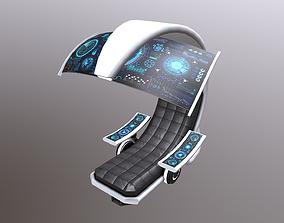 3D asset SciFi Seat Futuristic