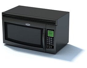 3D Black Microwave Oven