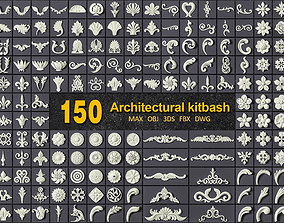 decorative 150 ARCHITECTURAL KITBASH - VOL 01 3D model