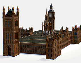 Palace of Westminster House Of Parlament 3d low-poly