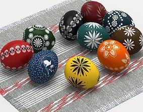 3D model game-ready Easter eggs