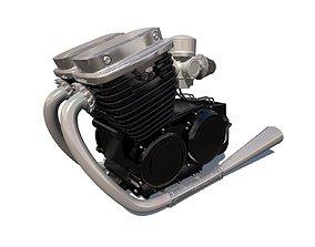 3D model Motorcycle Engine motor