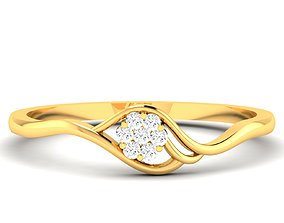 Women Band Ring 3dm render detail solitaire