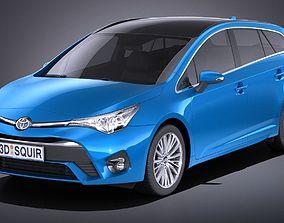 3D model Toyota Avensis Estate 2018 VRAY