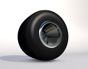 3D Karting wheels- Set of high-poly go-kart wheels- 2