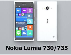 3D model Nokia lumia 730 white