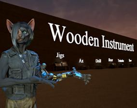 3D asset Wooden Instrument