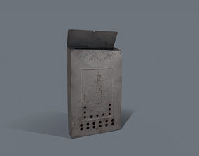 3D model low-poly mailbox MailBox