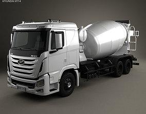 3D Hyundai Xcient Mixer Truck 2014