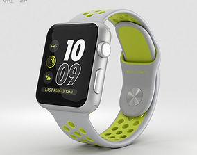 Apple Watch Nike 38mm Silver Aluminum Case Flat Silver 3D