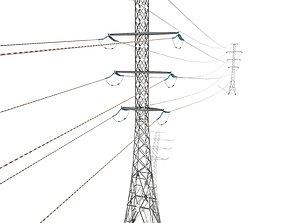 3D model Electricity Pole 26
