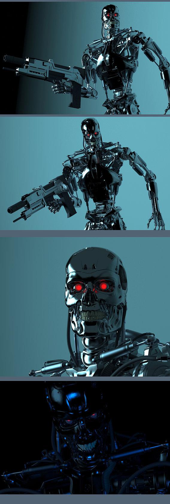 Creation terminator t-800 real model #16
