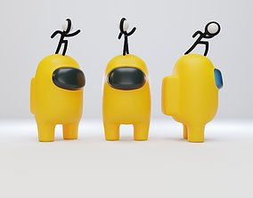 3D Among Us Stickmin Figure Character