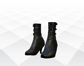 3D asset low-poly Shoes Sandals and Slippers lifestyle