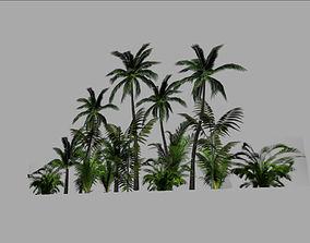 jungle backround 3D asset