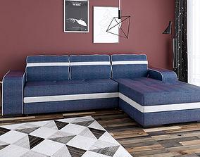 3D Corner Sofa with 3 seats