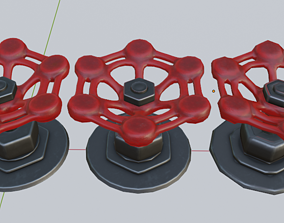 low-poly Iconic Half-Life Red valve 3d model all quads 2
