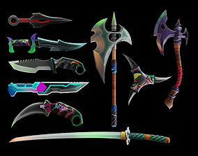 game-ready Among Us weapon 3d pack