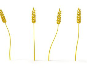 Wheat LOW POLY 3D asset
