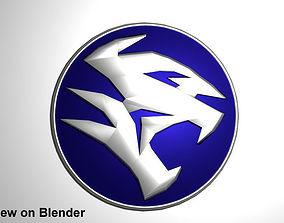 3D Button Logo Proton Car new design