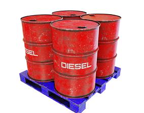 3D Barrels on the pallet
