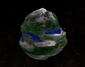 3D asset Low-Poly Micro Planet