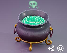 3D asset Stylized Witches Cauldron