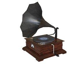 3D model Black Gramophone