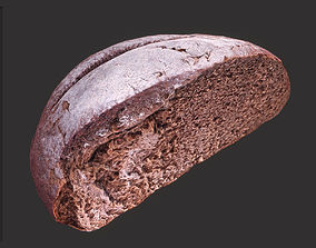 Brown Bread Cut 3D model