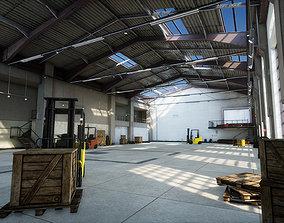 Garage 02 3D asset low-poly