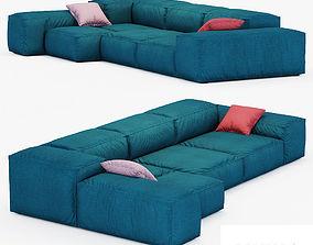 Sofa Extrasoft Living Divani 3D model