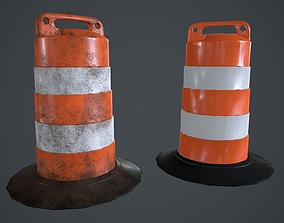 Traffic Barrel PBR Game Ready 3D asset