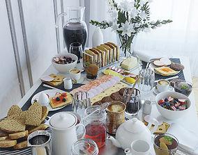 Serving table breakfast - 1 3D model
