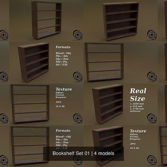 Bookshelf Set 01 R