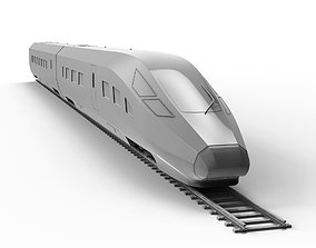 emu Fuxing Hao High-Speed Train 3D Model