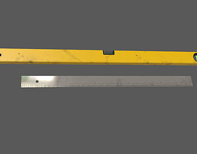 3D model spirit level ruler