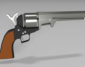old revolver 3D asset realtime