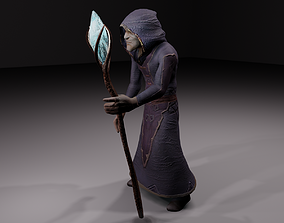 The magician - old fantasy alchemist 3D model