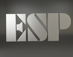 3D model ESP Logo