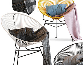 3D model Cult Furniture Armando Chair and Acapulco chair