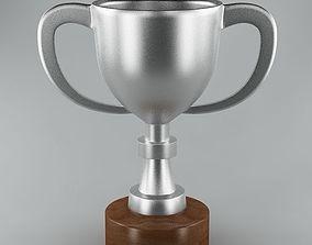 Trophy 02 silver 3D model