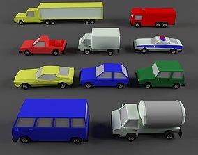 3D asset car 10 items