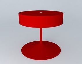 3D Red desktop lamp