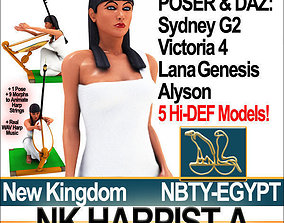 Ancient Egypt Harpist NK Props Poser Daz A 3D model