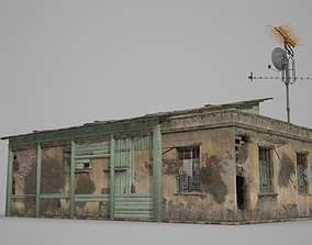 3D model Old wooden bungalow houses