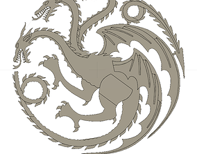 Targaryen House Sigil Game Of Thrones 3D print model