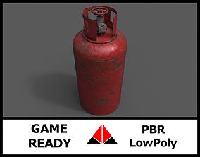 bottle Gas tank 3D asset low-poly PBR