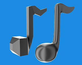 Musical note 3D realtime