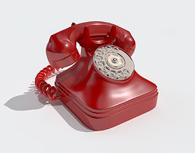 Retro phone 3D asset