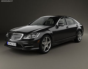Mercedes-Benz S-Class with HQ interior 2013 3D model